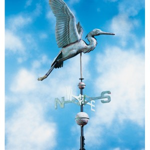 Copper Heron Weathervane-0