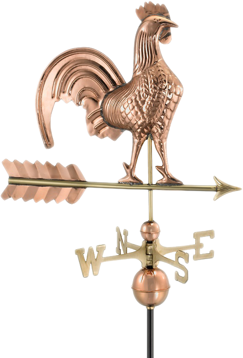 Rooster Weathervane From Pure Copper