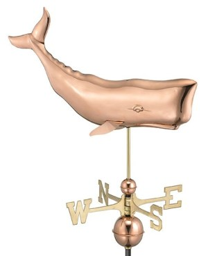 Two Story Home Sized Whale Pure Copper Weathervane -0