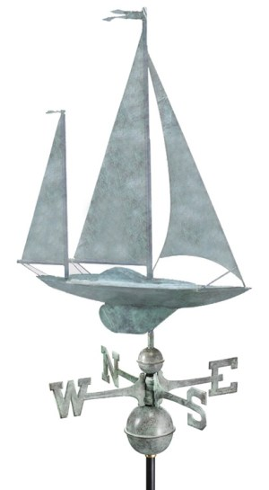 Hand Crafted Yawl Weathervane-0