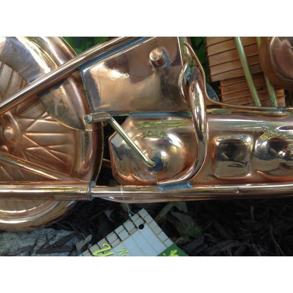 Motorcycle Weathervane 669 - Polished Copper-3937