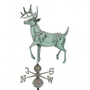 Jumbo Deer 3-D Copper Weathervane-0