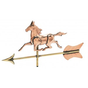Horse 3-D Garden Copper Weathervane-0