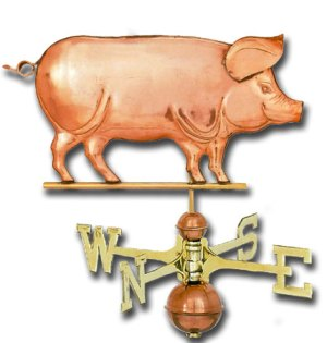 Traditional Pig Copper Weathervane-0