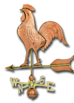Jumbo Rooster Copper Weathervane-0
