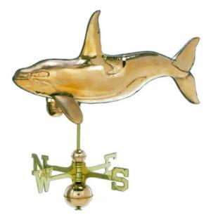 Killer Whale 3-D Copper Weathervane-0