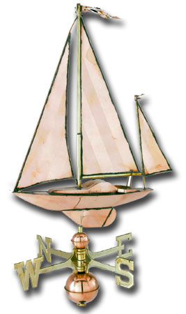 Sailboat Copper Weathervane-0