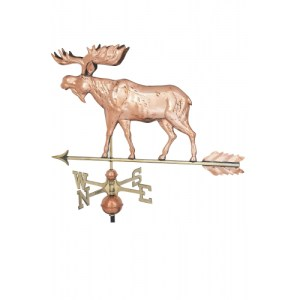 Moose Copper Weathervane-0