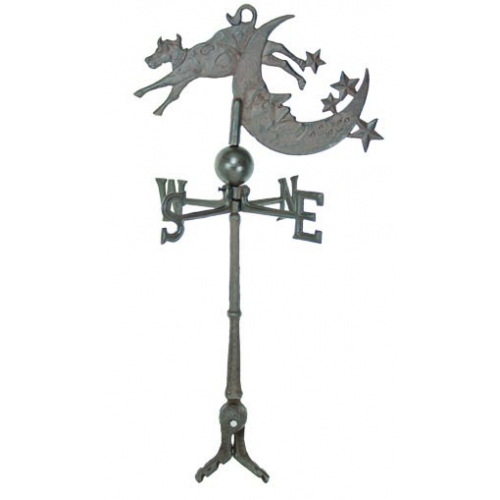 Cow Jumps Over The Moon steel Weathervane With Roof Mount-0