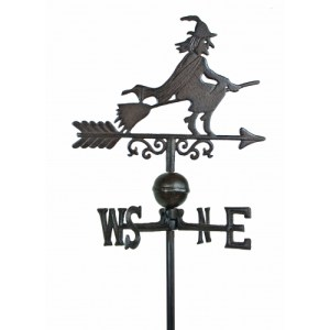 steel witch weathervane