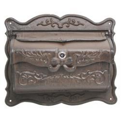Victorian Solid Steel Mailbox Ornate Old Days Design-0