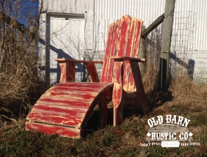 Farmhouse Adirondack Chair by the Old Barn Rustic Co. - Indiana-0