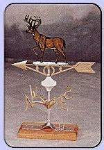 Whitetail Deer Aluminum Weather Vane-0