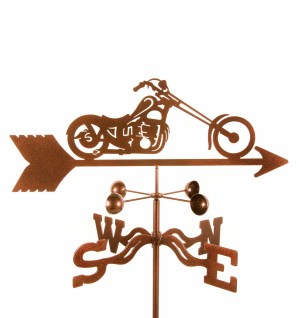 Chopper Motorcycle Weathervane-0