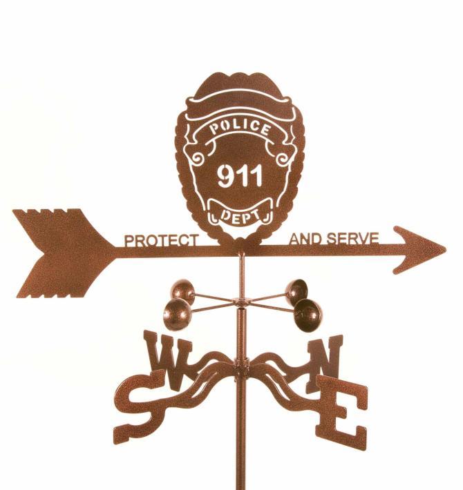 Police Badge Weathervane-0