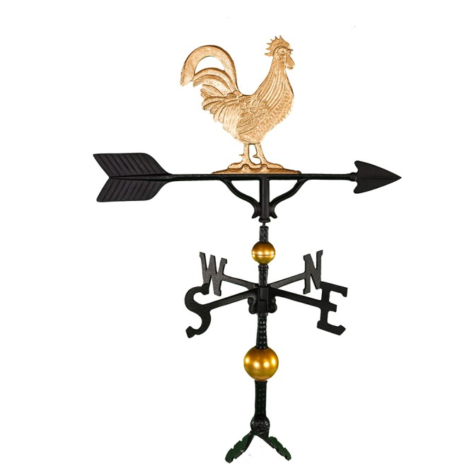 """Old Barn Rustic Co. 32"""" Deluxe Rooster Aluminum Weathervane-4118"""