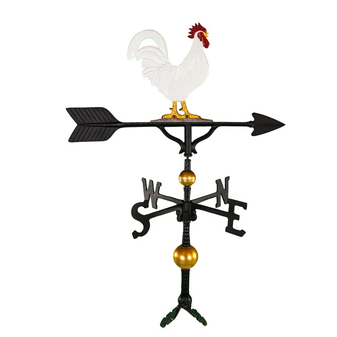 "Old Barn Rustic Co. 32"" Deluxe Rooster Aluminum Weathervane-0"
