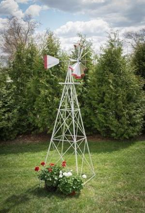Ten Foot Ornamental Aluminum Windmill-0