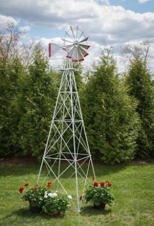 Twelve Foot Ornamental Aluminum Windmill-0