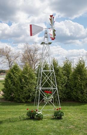 Eighteen Foot Ornamental Aluminum Windmill-0