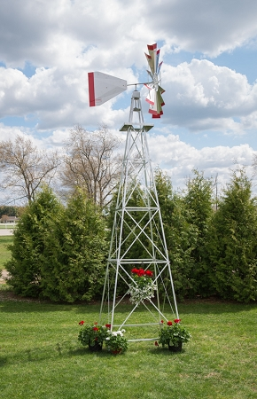 Eighteen Foot Ornamental Aluminum Windmill-0