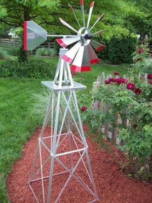 Six Foot Ornamental Aluminum Windmill-0