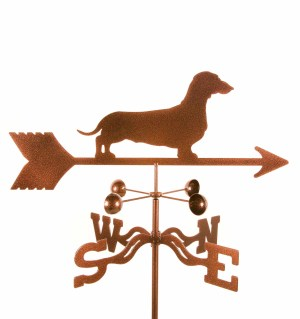 Daschund weather vane