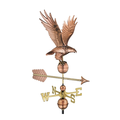 American Freedom Eagle Weathervane Handcrafted From Pure Copper-4653
