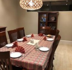 Linen 4 – Napkins folded for dinner at Tracy's