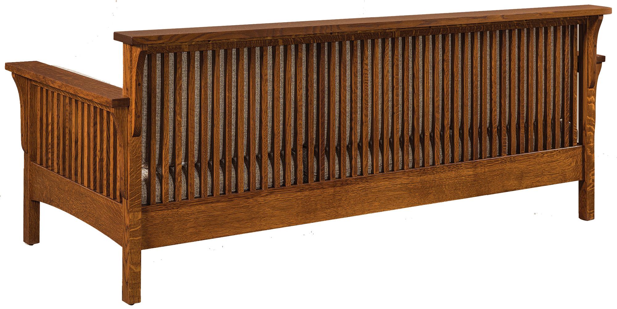 sofa bed timber slats roche bobois modular price highback slat wood mission