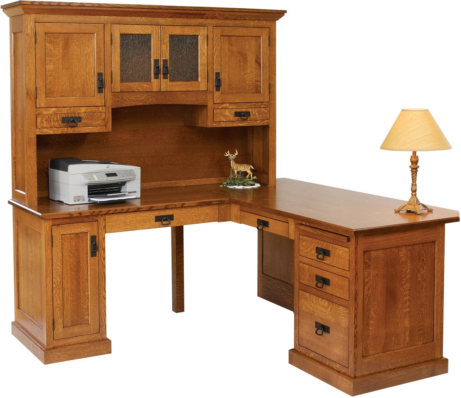 Homestead Corner Desk with Hutch  Amish Homestead Corner Desk