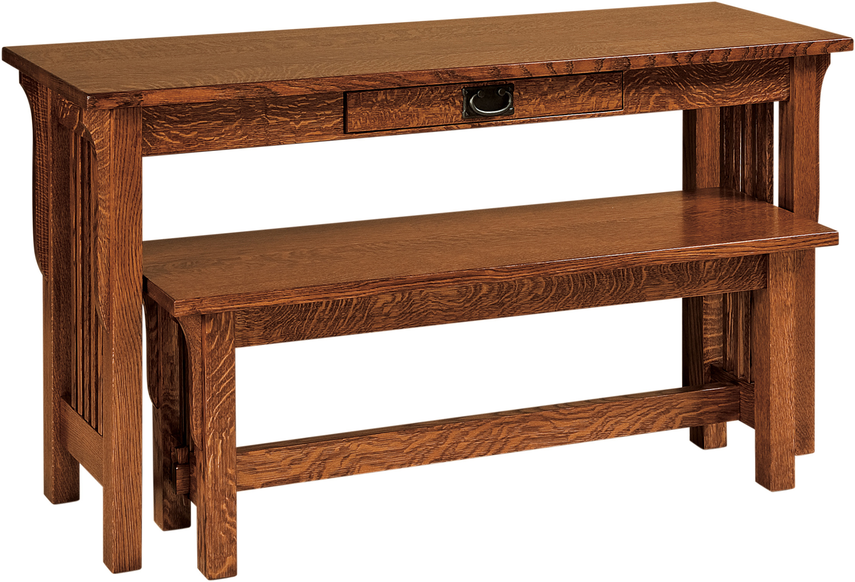 amish built sofa tables case landmark nesting table and bench custom furniture