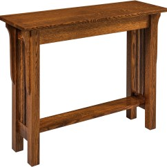 Mission Style Oak Sofa Table Microsuede Set Landmark Custom Amish Furniture Solid Hardwood