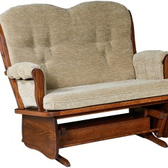 Glider Sofa Large L Shaped Garden Cover Loveseat Reclining Loveseats With Cup Holders