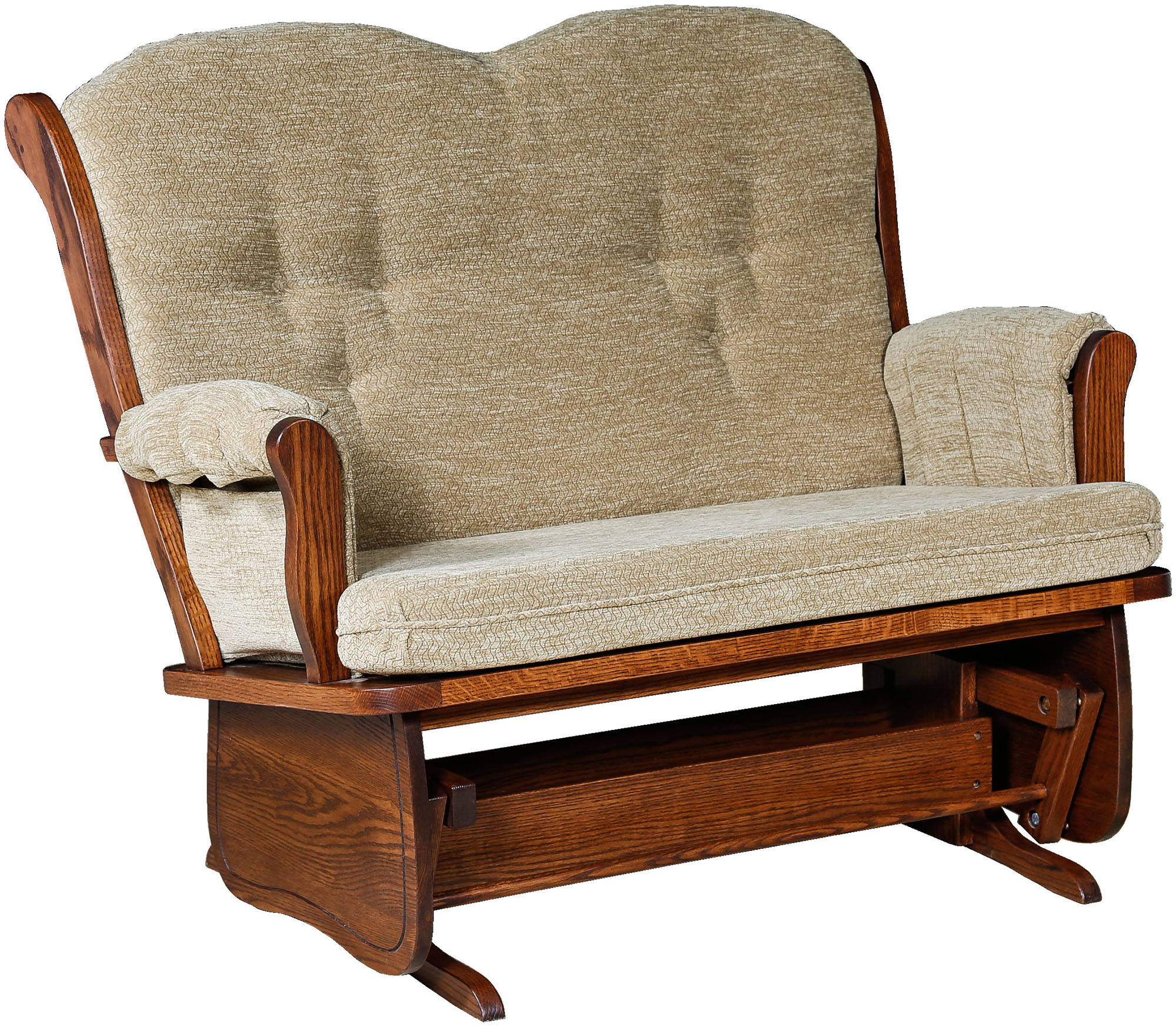 childcare glider rocking chair ottoman walnut hanging bubble swanback loveseat solid wood