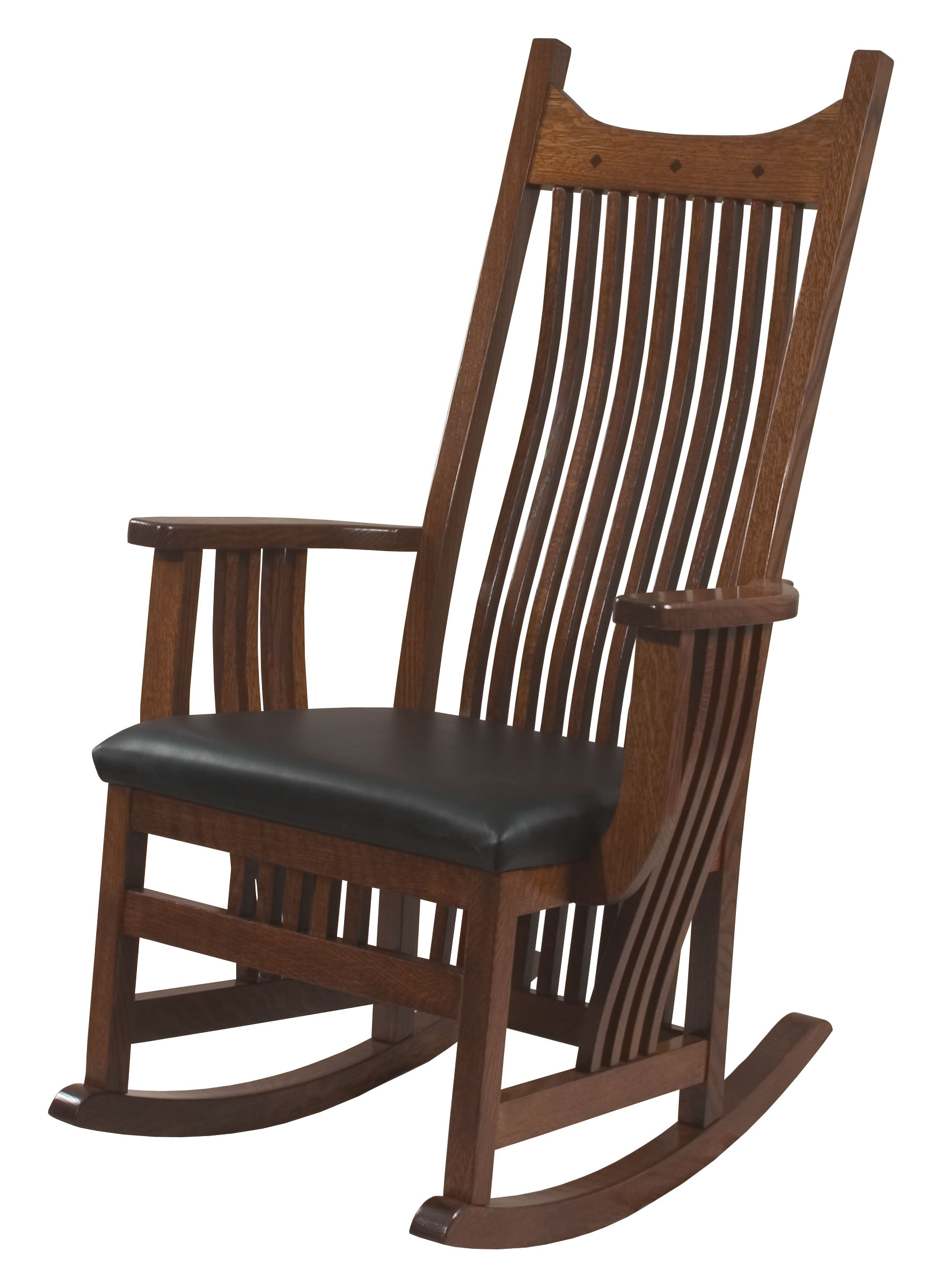 Royal Mission Leather Seat Rocker  Royal Mission Solid