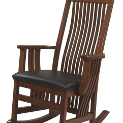 Rocking Chair Leather And Wood Folding Camping Picnic Table Chairs Royal Mission Seat Rocker Solid