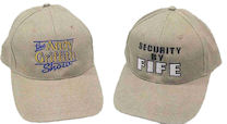 Embroidered Show Logo and Security by Fife Caps