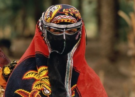 Yemen-Hadramaut-a-veiled-woman-in-traditional-clothing-getty