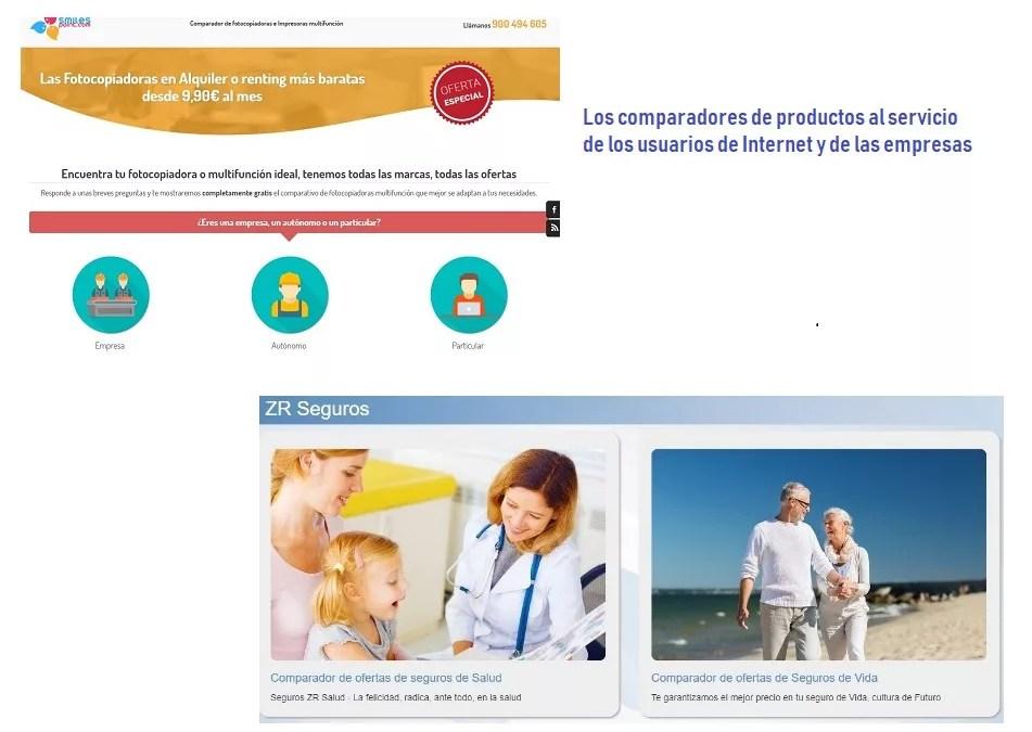 Comparadores de productos, la web al servicio del cliente