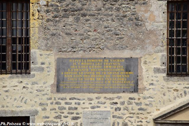 Plaque Vauban à Epiry