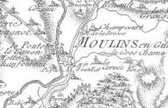 Carte de Cassini Moulins Engilbert Nièvre Passion