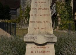 Monument aux morts de Saint Laurent l'Abbaye