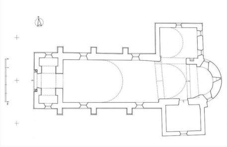 Plan de l'église de Dirol