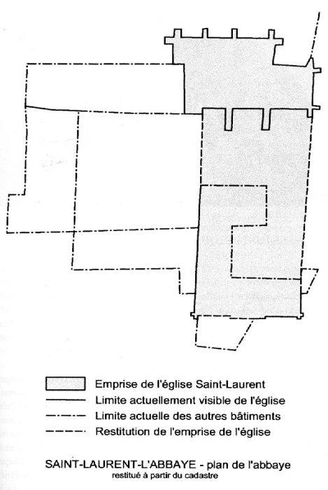 Plan église de Saint-Laurent L'abbaye