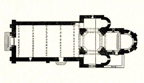 Plan de l'église de Verneuil