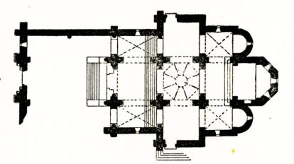 Plan de l'église de Jailly