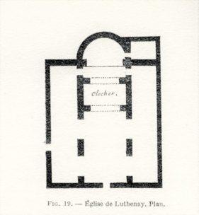 Plan de l'église de Luthenay