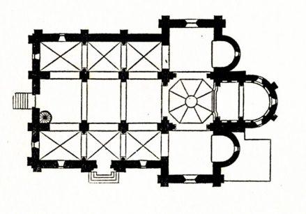 Plan de l'église de Rouy