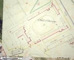 Plan du château Aunay en Bazois